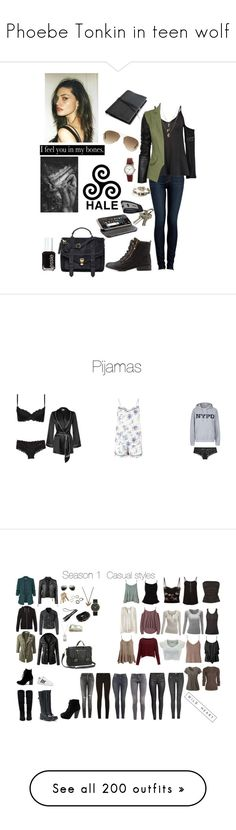 """""""Phoebe Tonkin in teen wolf"""" by rosehathaway-dcc on Polyvore featuring moda, Paige Denim, Charlotte Russe, Boohoo, Orelia, Preen, Essie, Proenza Schouler, Ray-Ban e DKNY"""