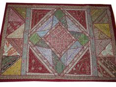 India Home Decorative Wall Tapestry Vintage Sari Large Wall Hanging Throw | eBay $69.00