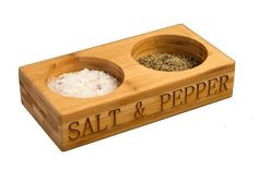 Bamboo Salt  Pepper Set. www.lavarockcooking.com