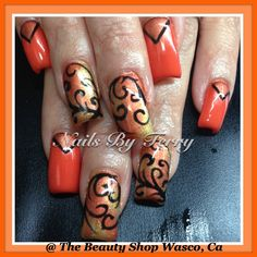 Fall nails, gel nails