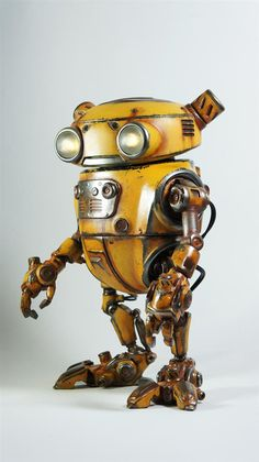 Steampunk cars | ... Paul Braddock created Eddie, the amazing 3D printed steampunk robot