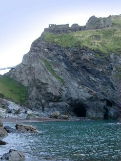 Merlin's cave, Tintagel, always wanted to see this ruin near Lands End, Cornwall, England.