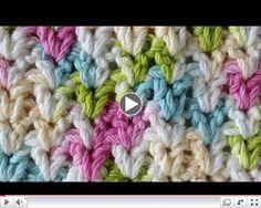 Stitch Repeat V-Stitch Free Crochet Pattern - Left Handed