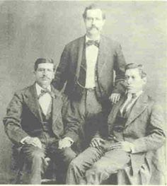 Three Friends of Billy the Kid Juan Batista Patron (left), Peter Menard Maxwell (center), and A. P. (Paco) Anaya