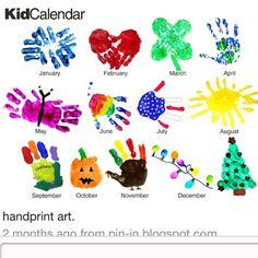 Monthly handprint art