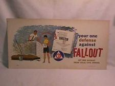 Original 1959 Civil Defense Fallout Shelter Poster