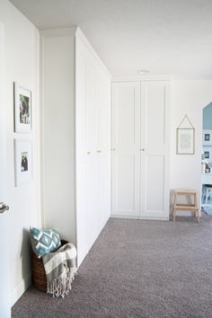 Home- Creating Built In Office Storage with the IKEA PAX system, organized offic. Home- Creating Built In Office Storage with the IKEA PAX system, organized office, home office orga Closet Ikea, Ikea Pax Wardrobe, Bedroom Wardrobe, Built In Wardrobe, Diy Wardrobe, Wardrobe Ideas, Wardrobe Doors, Wardrobe Storage, Closet Storage