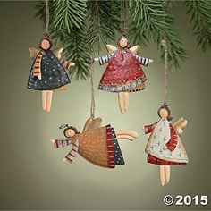 Lot of 12 Dancing Tin Angels Christmas Tree Ornaments Fun ExpressVintage Christmas Ornament: Angel: As you add vintage Christmas ornaments to your collection, remember to add at least one vintage Christmas angel Piece Set of Dancing Angel Christmas Angel Ornaments, Metal Christmas Tree, Clay Ornaments, Christmas Crafts, Ornaments Ideas, Christmas Poinsettia, Crochet Ornaments, Crochet Snowflakes, Xmas Trees