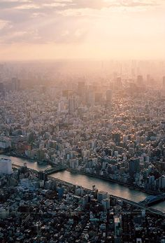 A Sunset of Tokyo (by urarin)