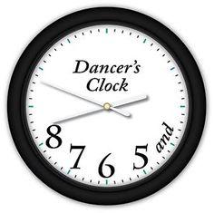 Dancer's Time Clock Ballet Dance Studio Girls Bedroom Small Wall Clock   eBay