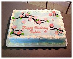 Cherry blossom sheet cake :)