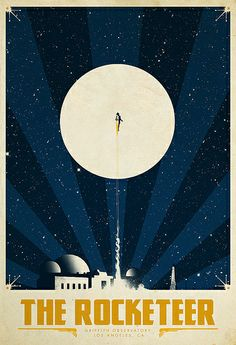 The Rocketeer, by Justin Van Genderen. A poster for the Bottleneck Gallery show: Gizmos and Gadgets.
