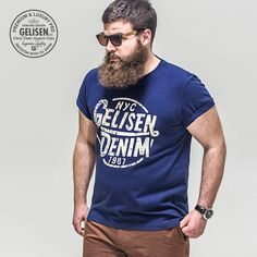 GELISEN 2015 Brand Fashion Men's Large Size T-shirt