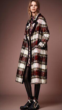 Burberry Check Plaid Coat