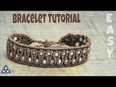 Brown Macrame Bracelet With Beads Tutorial, DIY Bracelet. Hii, In This Macrame Tutorial Youll see How to make Macrame Bracelet with Beads tutorial. DIY Bracelet project is the very easy one. This Macrame bracelet tutorial is good for everyone who wants to Bracelets Diy, Macrame Bracelet Patterns, Macrame Bracelet Tutorial, Bracelet Crafts, Beads Tutorial, Macrame Patterns, Macrame Jewelry, Macrame Bracelets, Macrame Knots