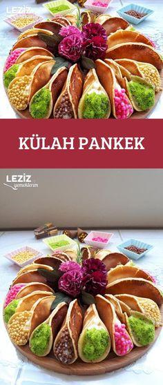 Külah Pankek Cake Recipes, Dessert Recipes, Desserts, Burger Bar Party, Turkish Recipes, Ethnic Recipes, Foundant, Good Food, Yummy Food