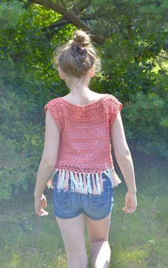 Crocheted sweater - byClaire - crochet patterns, books and yarn Crochet Dress Girl, Crochet Girls, Crochet For Kids, Crochet Clothes, Crochet Baby, Knit Crochet, Crochet Stitches, Crochet Patterns, Baby Cocoon Pattern