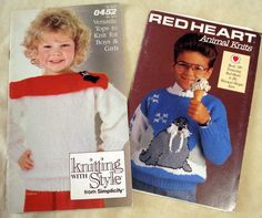 Kids Knits  Knitting Pattern Booklets for Boys and by LoveNYarn, $5.00