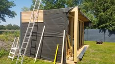 Our new garden house / workshop – Heimwerker-Helden.de - All About Backyard Sheds, Outdoor Sheds, Outdoor Gardens, Pergola Carport, Gazebo, Diy Outdoor Kitchen, Outdoor Kitchens, Garden Workshops, Diy Shed