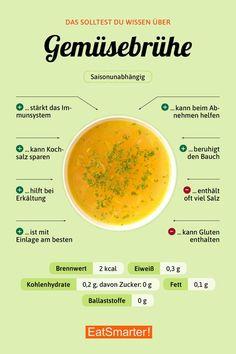 Schnell gemacht: Gemüsebrühe selber machen   eatsmarter.de #gemüsebrühe #infografik #ernährung #selbermachen