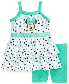 Nannette Baby Girls' Minnie Mouse Top & Shorts Set – Kids Baby Girl … – Baby For look here Cute Outfits For Kids, Toddler Girl Outfits, Toddler Fashion, Kids Fashion, Baby Outfits, Toddler Girls, Disney Baby Clothes, Baby Kids Clothes, Baby Disney