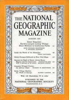 National Geographic August 1959