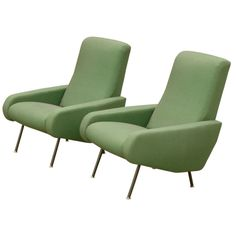 Jean Prevost French Fifties Pair of Lounge Chairs