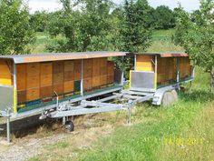 Bienenanhänger beladen seitlich