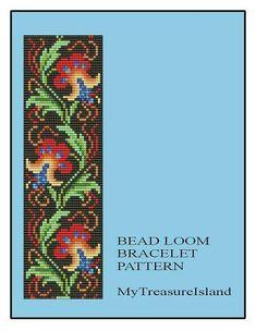 Bead Loom Vintage Floral Border 4 Bracelet by MyTreasureIsland