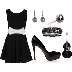#little black dress - guess which costs 18 euro and which costs $18,000 in this glam combo .