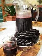 Chica Morada - Peruvian Purple Corn Drink! You'll find this drink in almost any restaurant. It is a sweet drink made from purple corn, pineapple skin, cinnamon, sugar and clove. It is a non alcoholic drink.