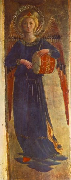 Fra Angelico (Guido di Pietro), 1400-1455, Italian, Linaioli Tabernacle (detail), c.1433. Tempera on wood. Museo di San Marco, Florence. Early Renaissance.