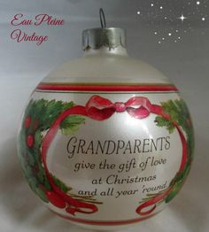 Christmas Collectible Glass Keepsake Ornament by EauPleineVintage