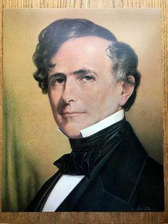 14th President Franklin Pierce Color Portrait 11 X 14