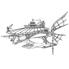 Another cool #airship #penandink #illustration. This #drawing was created by @marendra_art. I like the cool little details like the #fairy #figurehead the lion's head cannon and the building on the deck. When this was posted Marendra said that this awesome #steampunk #flyingship didn't have a name yet. Anyone have suggestions for her?