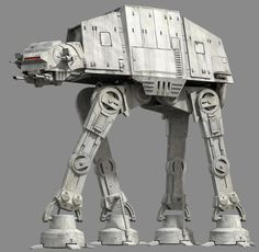 AT-AT (All Terrain Armored Transports), or Imperial Walkers, first appeared in The Empire Strikes Back from the Star Wars saga. Star Wars Ships, Star Wars Art, Star Trek, Walker Star Wars, Maquette Star Wars, Imperial Walker, At At Walker, Star Wars Spaceships, Star Wars Vehicles