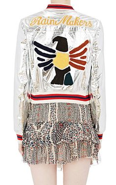 Isabel Marant Étoile Appliquéd Metallic Ferna Jacket - Statement - Barneys.com