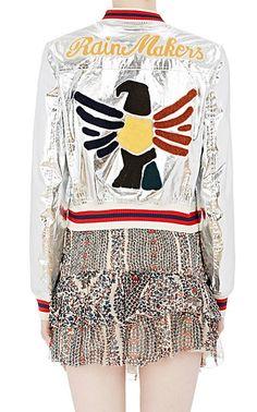Isabel Marant Étoile Appliquéd Metallic Ferna Jacket - Statement - Barneys.com