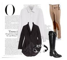 """""""horse riding"""" by tanichka03 on Polyvore featuring Derek Lam, Y's by Yohji Yamamoto, Tory Burch, Gucci and Vanity Fair"""