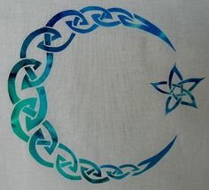 Easy Celtic Moon and Star Knot Quilt Applique by HumburgCreations