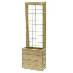 Bloembak Jumbo met trellis 180x60x35 cm | Bloempotten & plantenbakken | Tuin- & balkonaccessoires | Tuindecoratie | Tuin | KARWEI