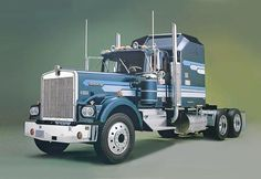 This Kenworth W-900 Aerodyne Conventional Truck model kit is made by Revell in 1/16 scale. Highly detailed, skill level 3 model kit. Detailed diesel engine with turbocharger Full exhaust stacks and ou