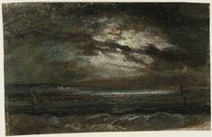 Joseph Mallord William Turner (1775‑1851) Title Moonlight over the Sea at Brighton Date c.1796-7 Medium Gouache and watercolour on paper