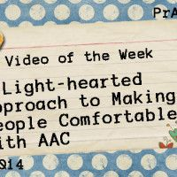 A Light-hearted Approach to Making People Comfortable with AAC Pinned by  SOS Inc. Resources  http://pinterest.com/sostherapy.