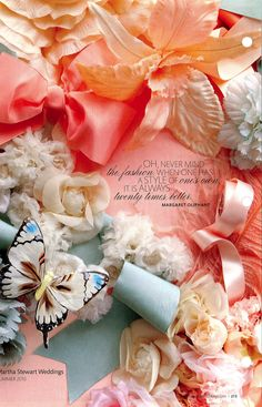Bridal Inspiration | Butterflies and flower combinations | Background by Martha Stewart