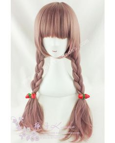 Cute Rosy Brown Straight Lolita Wig  lolita  wig Kawaii Hairstyles 6f0b35016bd8