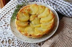 Torta rovesciata salata di patate gustosa