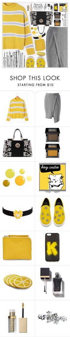 """""""Let's wear yellow Today ♥"""" by av-anul ❤ liked on Polyvore featuring Make, Kenneth Jay Lane, rag & bone, Fendi, Sur La Table, Stila and C. Jeré"""