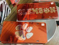 clemson #tigers #zebraprint #car #accessories | Clemson/Carolina Car ...
