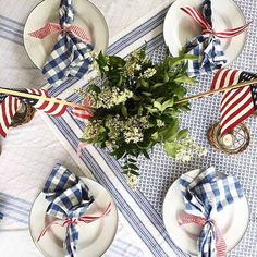 Celebrate the Fourth of July with These Inspiring Spaces - Cottage Journal Fourth Of July Decor, 4th Of July Celebration, 4th Of July Decorations, 4th Of July Party, July 4th, 4th July Food, Happy Birthday America, Patriotic Party, Patriotic Crafts
